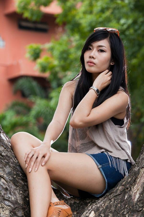 Asian beautiful girl. A portrait of beautiful girl stock photo
