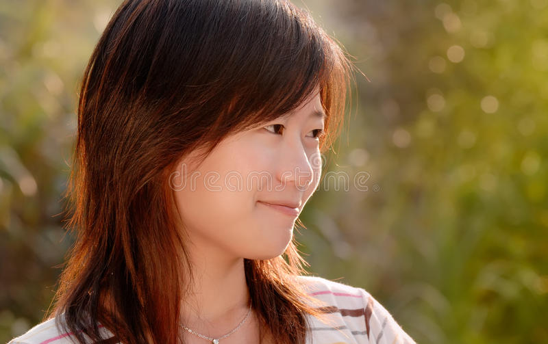 Download Asian Beautiful Girl In The Outdoor Stock Image - Image: 11034941