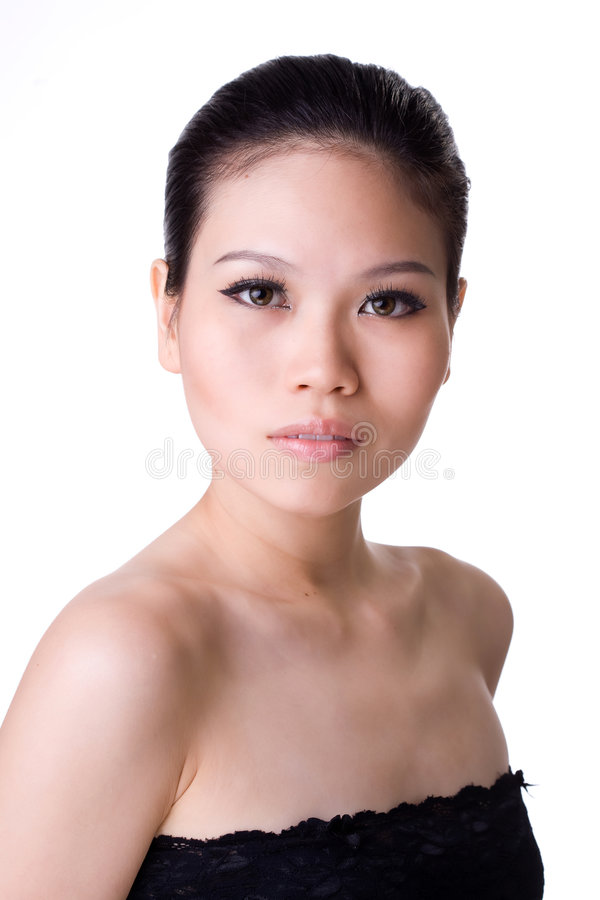 Download Asian beauty stock photo. Image of isolated, indoor, expressing - 3805408