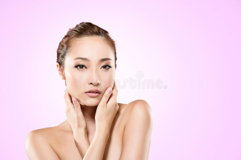 Download Asian beauty stock photo. Image of blond, girl, hair - 32568592