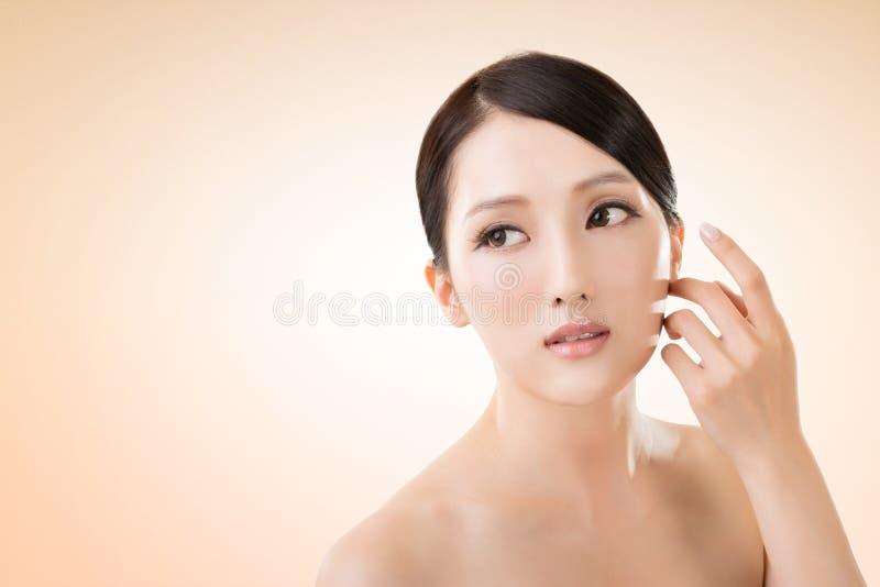 Asian beauty face royalty free stock photography