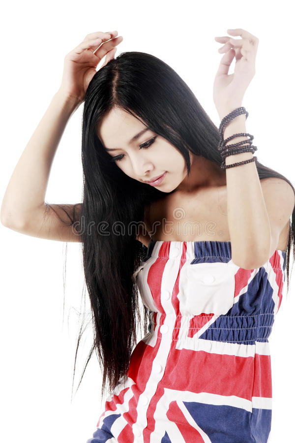 Download Asian Beauty With Long Hair Stock Photo - Image: 10517282