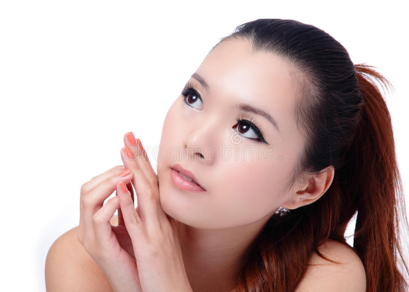 Download Asian Beauty Skin Care (Spa) Woman Face Close-up Stock Photo - Image of healthy, chinese: 22394302