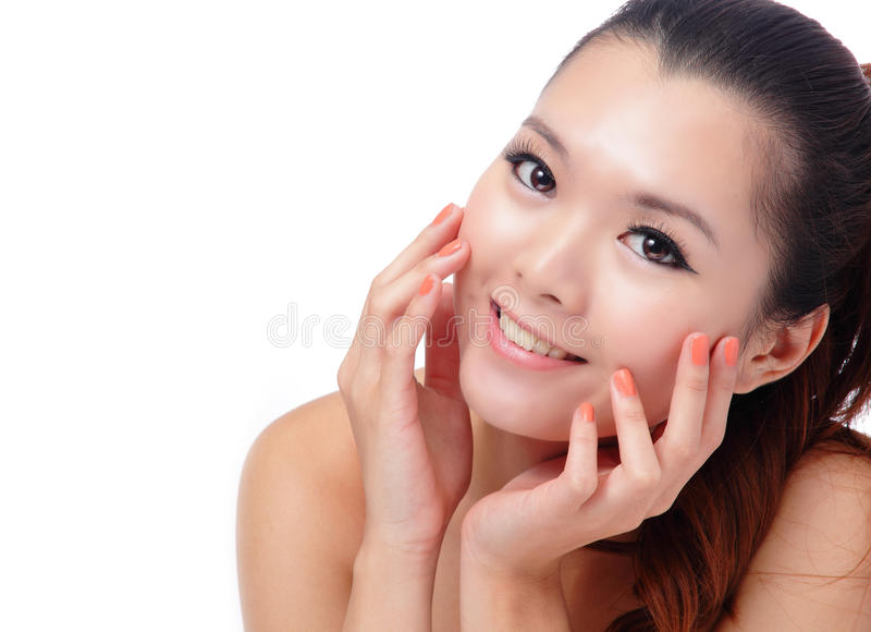 Download Asian Beauty Skin Care Woman Smiling Stock Image - Image: 22348047