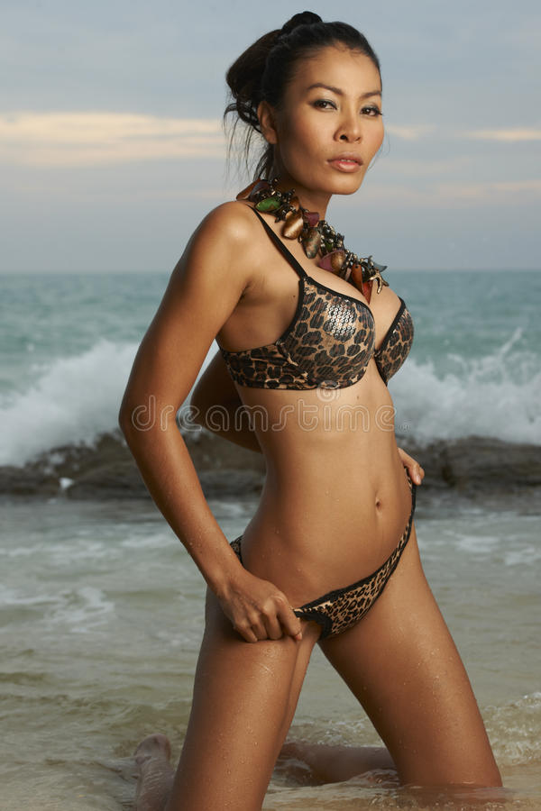 Download Asian Beauty On Sunny Beach Stock Image - Image: 28412785