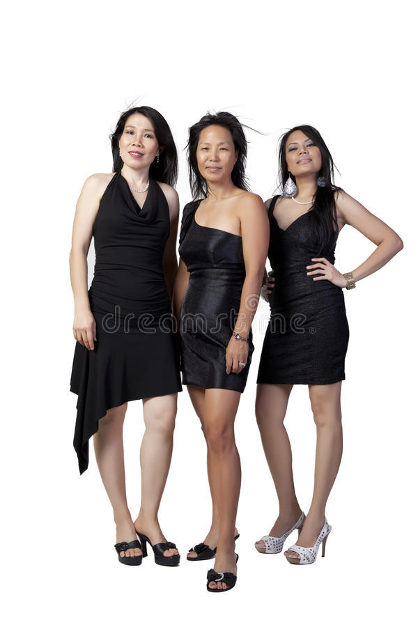 Download Asian in Black stock image. Image of women, dressed, background - 21025529