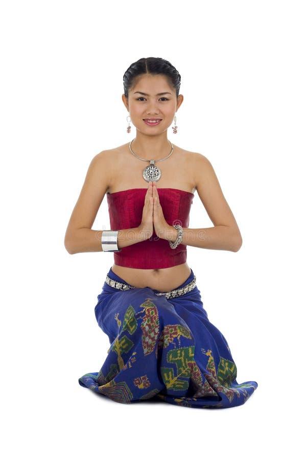 Asian bonito com expressão bem-vinda fotos de stock