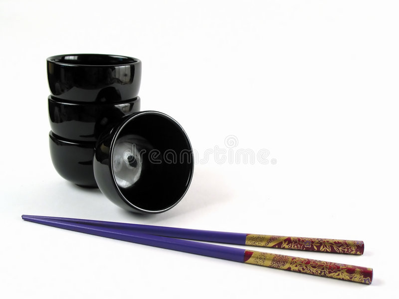 Download Asian bowls and stick stock image. Image of chinese, bowl - 172467