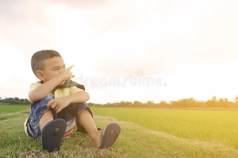 Asian, Boy, Casual royalty free stock images