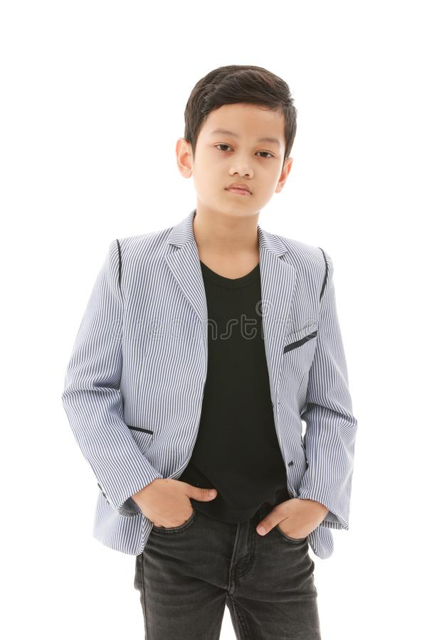 Asian boy in casual dress stock images