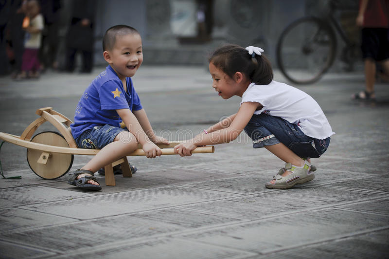 Download Asian Boy And Girl Happy Playing Outside Stock Image - Image of portrait, playful: 16040563