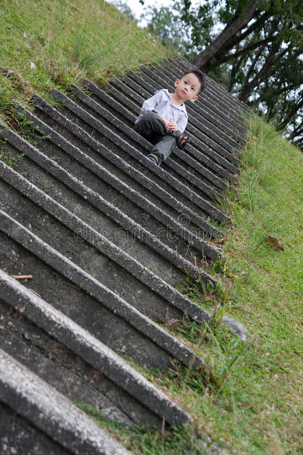 Download Asian boy portrait stock image. Image of youth, staircase - 15899757
