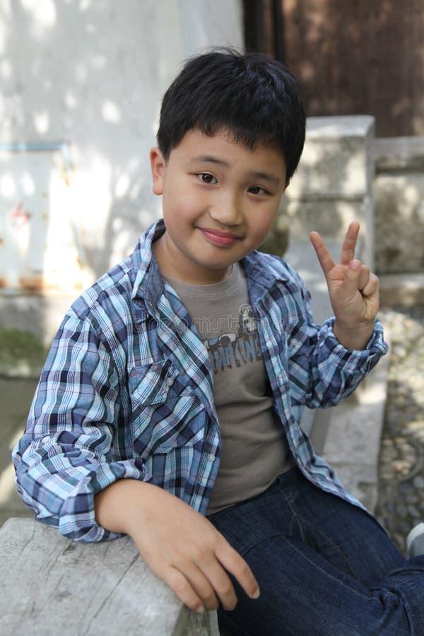 Asian Boy Smiling stock photos