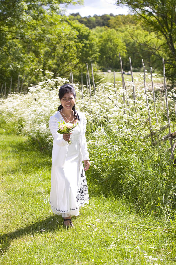 Download Asian bride stock photo. Image of oriental, girl, grass - 15149800