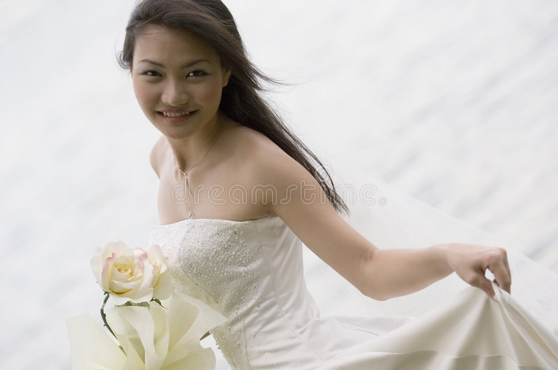 Download Asian Bride 19 stock image. Image of marriage, make, natural - 221973