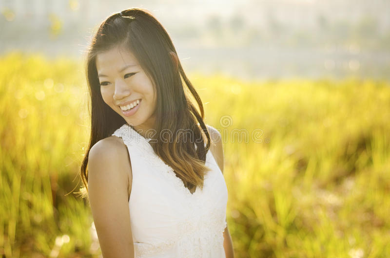 Download Asian bride stock image. Image of morning, meadow, bridal - 19896585