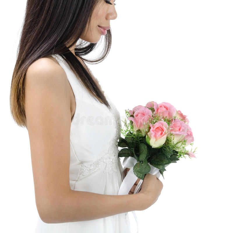 Download Asian bride stock photo. Image of happiness, bouquet - 19896664