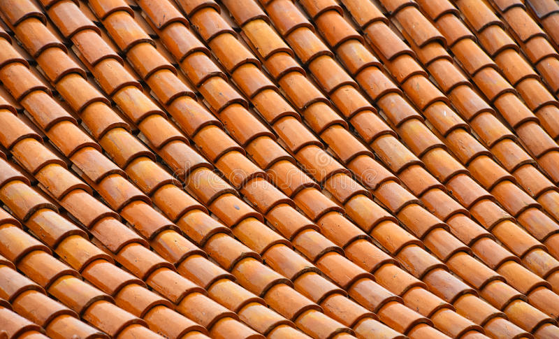 Asian brown ceramic roof tiles texture stock photography