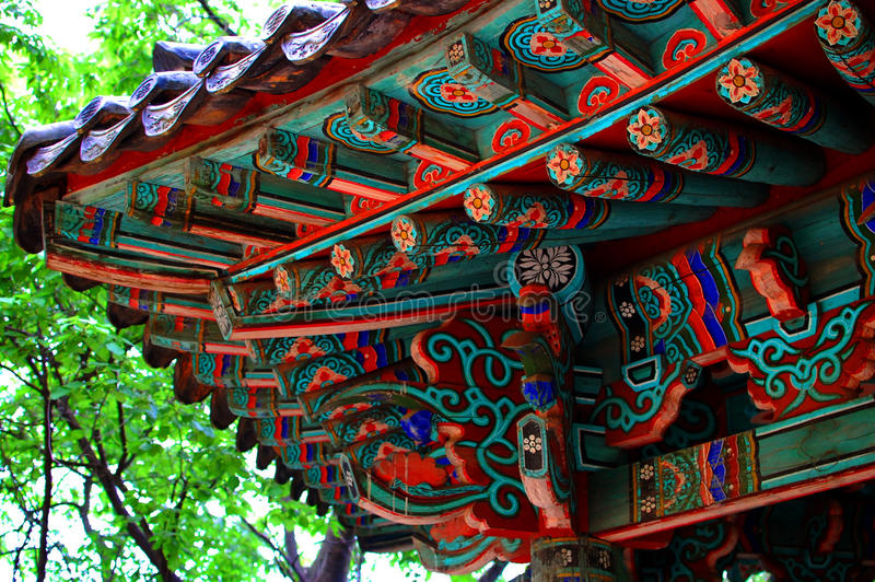 Asian building detail stock photography