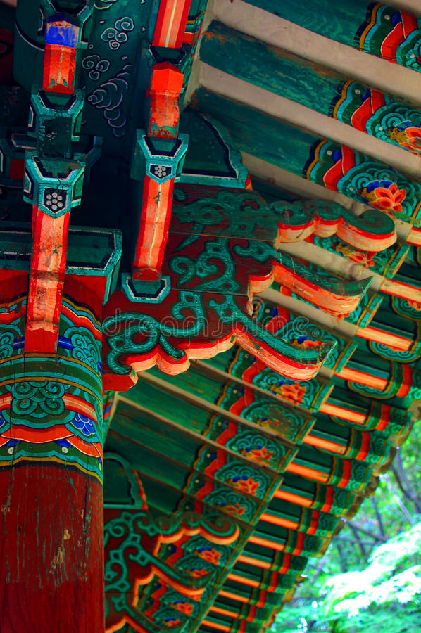 Asian building detail stock photo