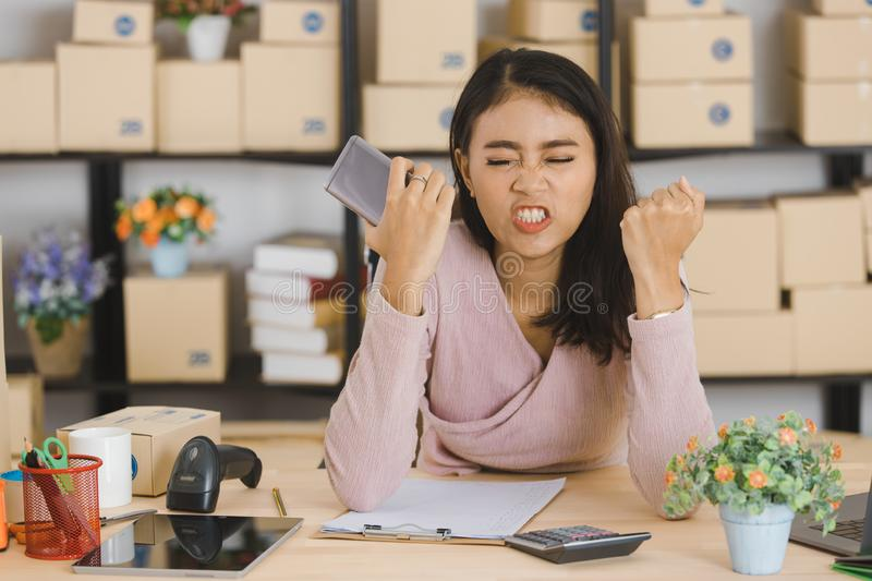 Asian business lady at office royalty free stock image