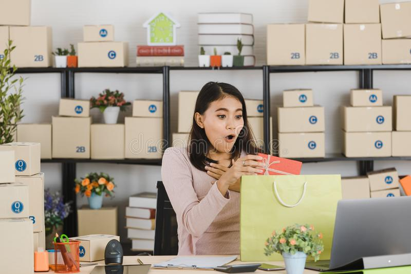 Asian business lady at office royalty free stock photography