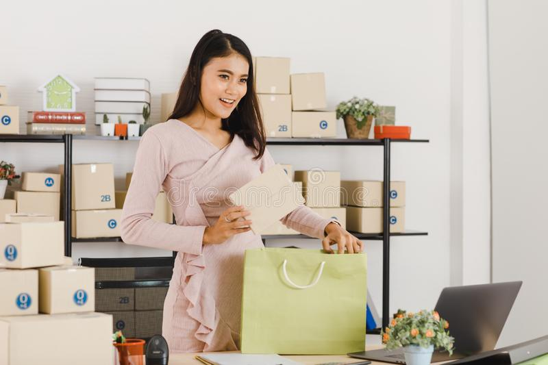 Asian business lady at office royalty free stock images