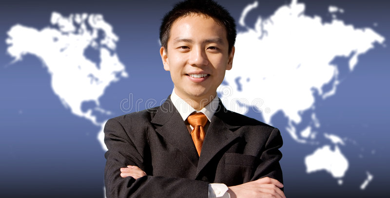 Asian business man royalty free stock photos