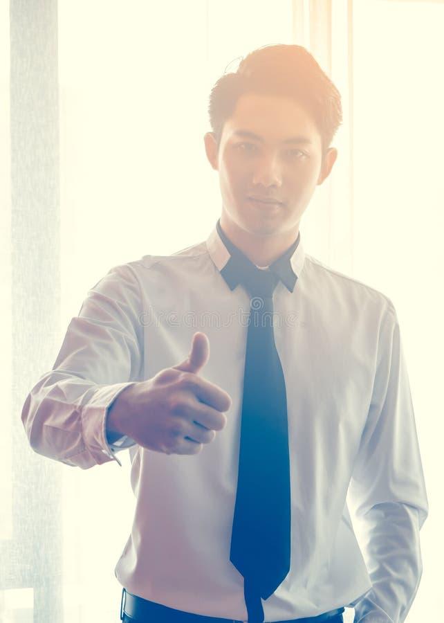 Asian Business Man Thumb Up stock image
