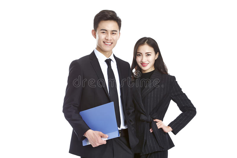 Asian business man and woman stock photography