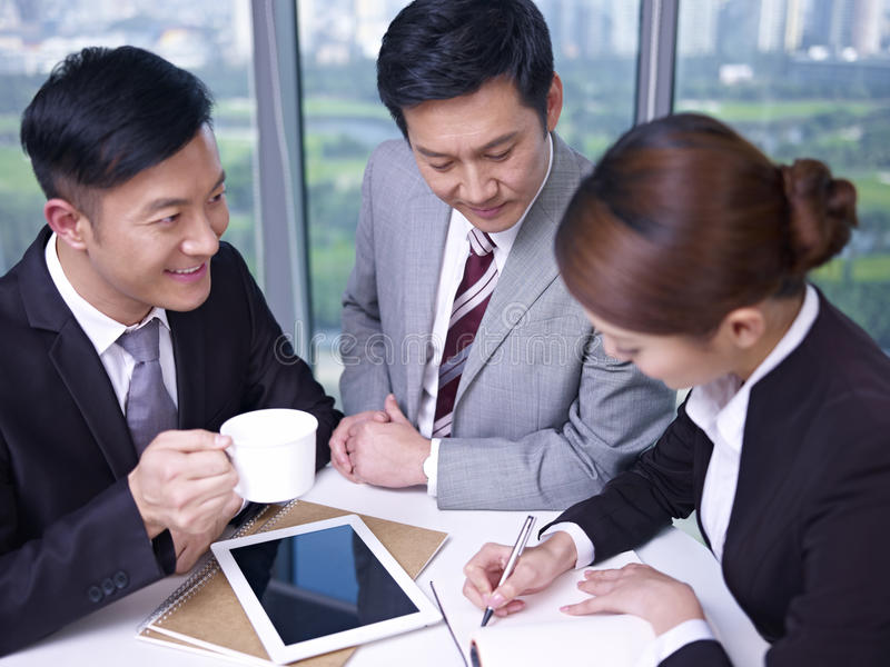 Asian business people royalty free stock photography