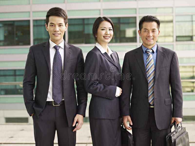 Asian business people. Portrait of an asian business team royalty free stock photo