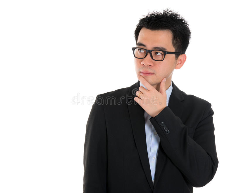 Asian business people thinking stock image