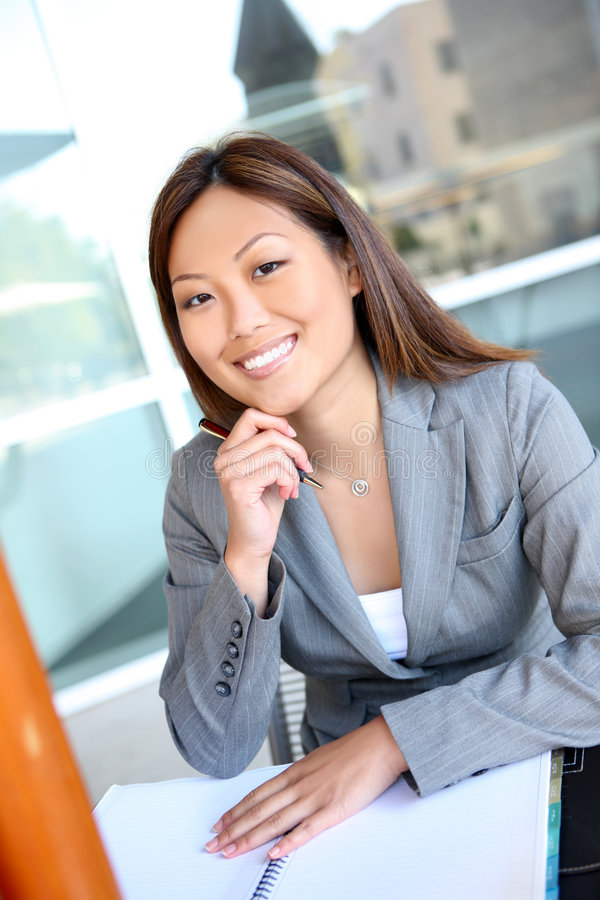 asian business pretty woman στοκ εικόνα