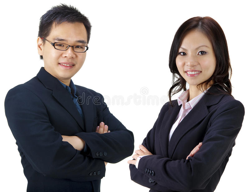 Asian business team royalty free stock photography