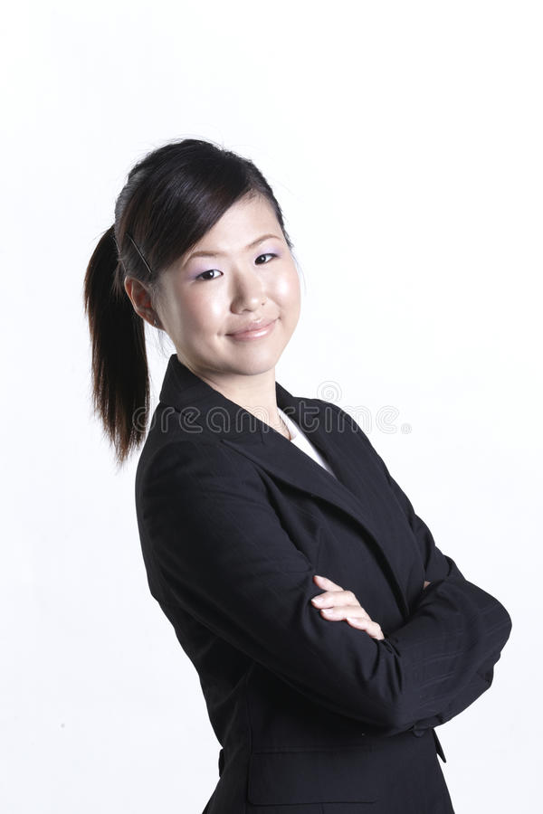Asian Business Woman With Her Arms Crossed Royalty Free Stock Photos