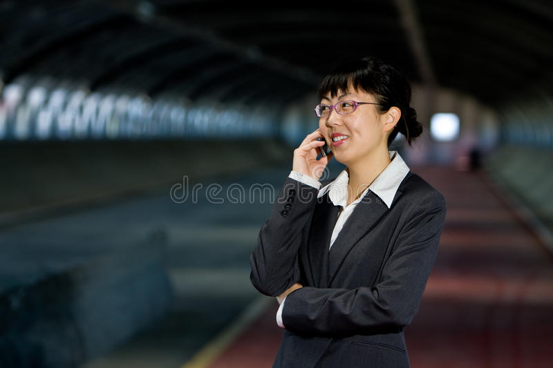 Download Asian Business Woman With Mobile Phone Stock Photo - Image of culture, intelligent: 10281958
