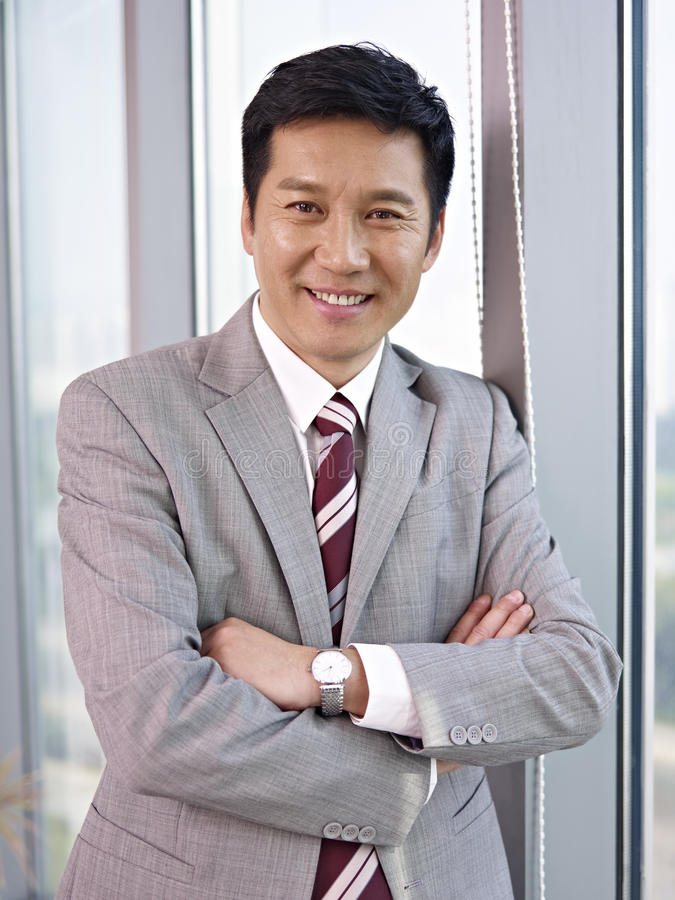 Asian businessman. Portrait of an asian businessman royalty free stock photography