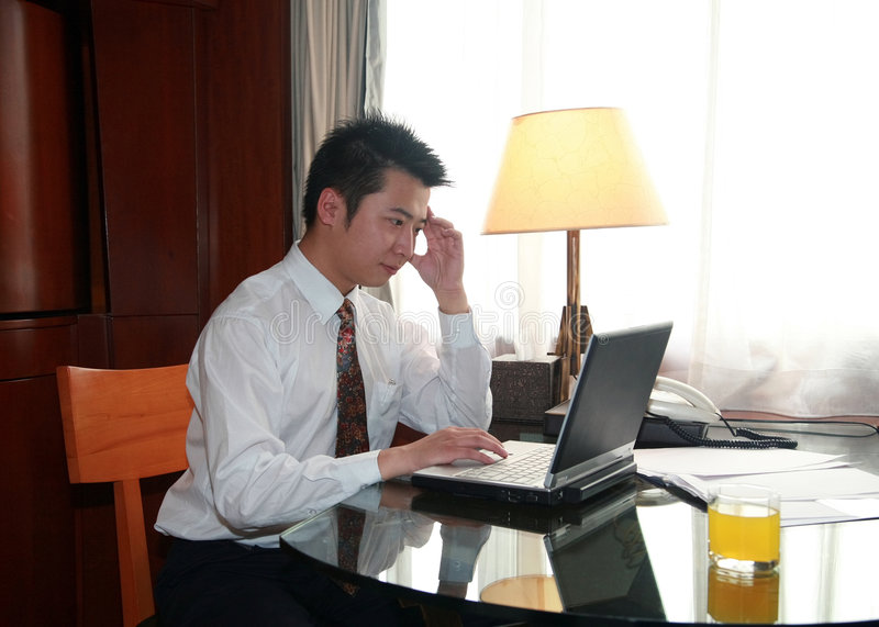 Asian businessman royalty free stock photos