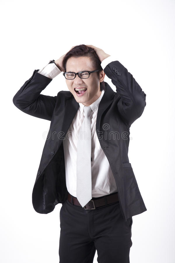 Asian Businessman Angry royalty free stock photos