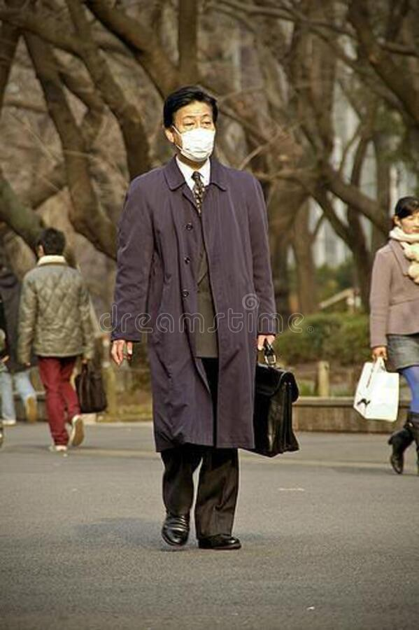 Asian Businessman With Face Mask Free Public Domain Cc0 Image