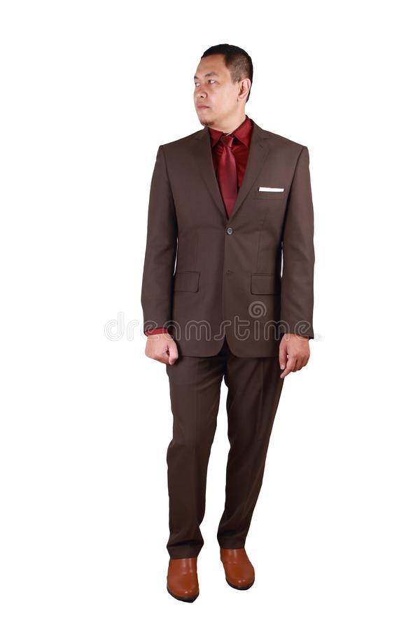 Asian Businessman Front View Isolated on White royalty free stock images