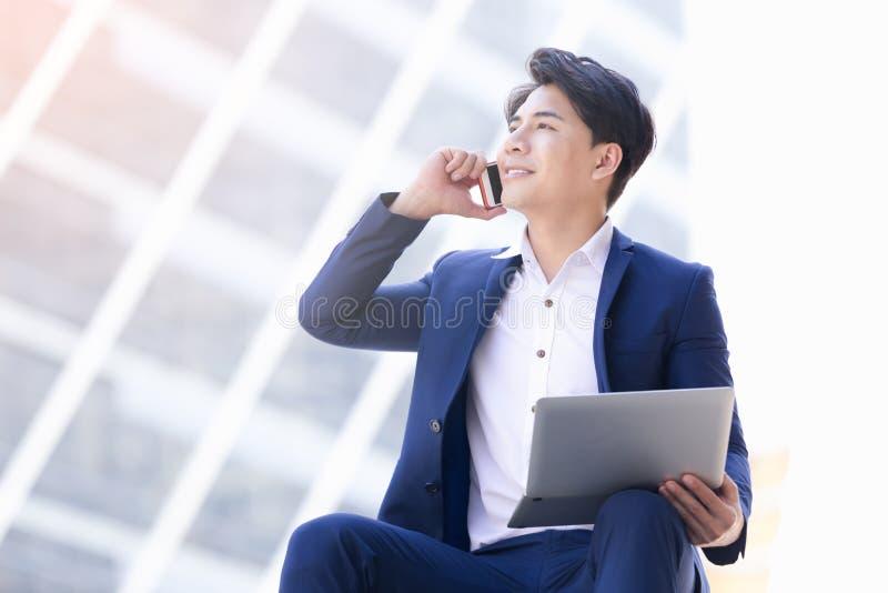Asian businessman work royalty free stock photos
