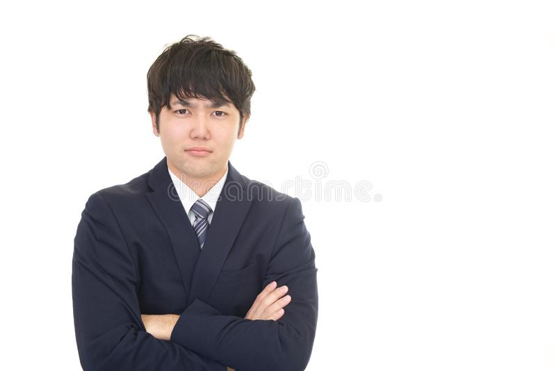 asian businessman stressed στοκ εικόνες με δικαίωμα ελεύθερης χρήσης