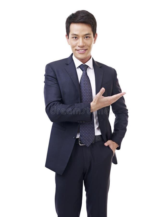 Asian businessman. Studio portrait asian businessman, isolated on white stock images