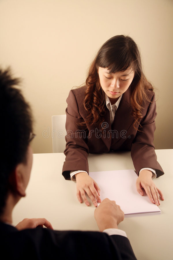 Download Asian Businesswoman In A Meeting Stock Image - Image: 8472079