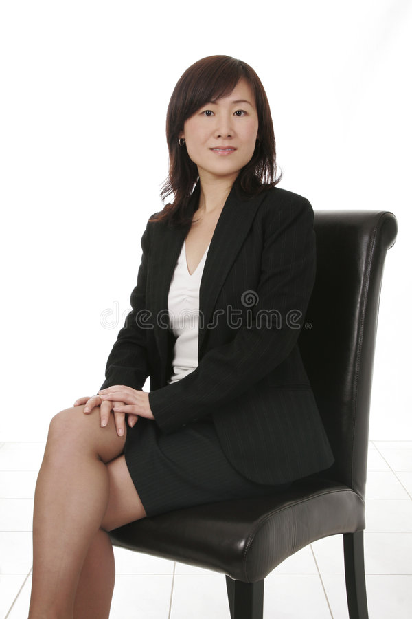 Asian Businesswoman With Mobile Phone stock image