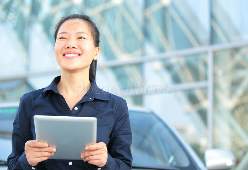 Download Asian Businesswoman Use Digital Tablet Stock Image - Image: 35039787