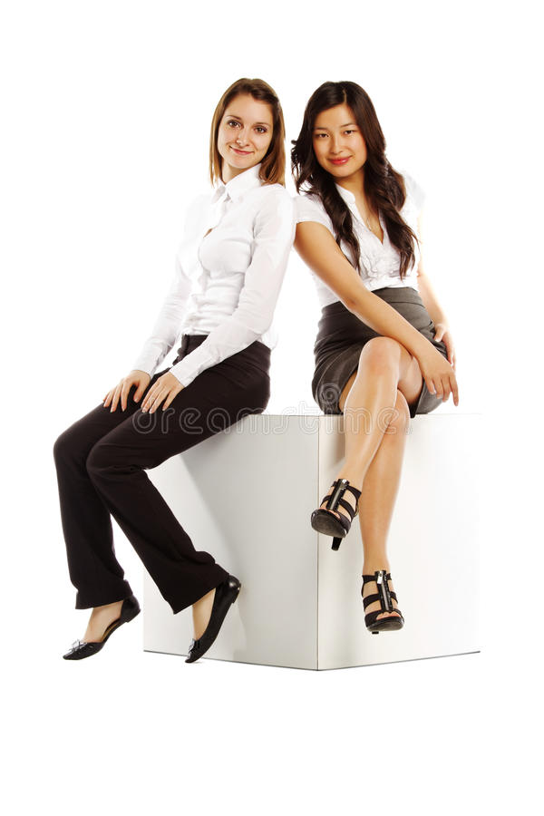 Download Asian And Caucasian Business Women Stock Image - Image: 25042779