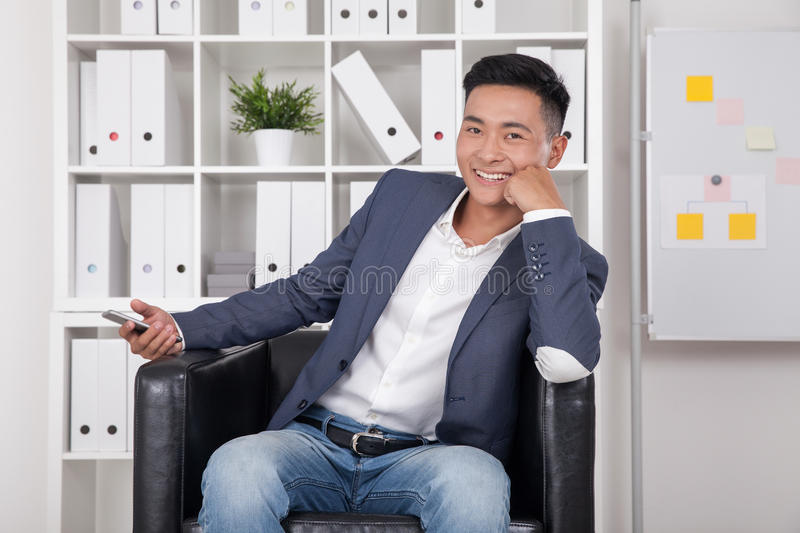 Asian CEO in office stock image